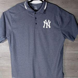 Nike Dri Fit Mens Gray White Swoosh Polo Shirt XL